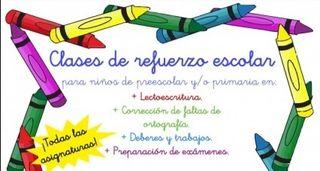 CLASES DE REFUERZO 3-12 AÑOs