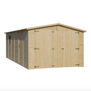 Garaje de Madera para Exterior de 20,00 m²