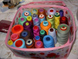 Over locking sew machine polyester thred.