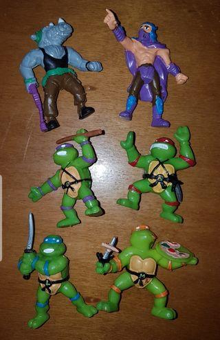 lote figuras pvc Tortugas Ninja Yolanda 1988