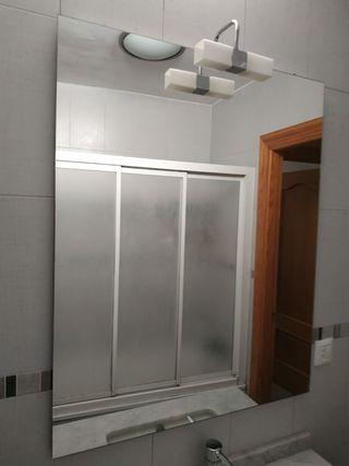 Espejo baño Con Aplique Luz
