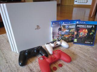 PlayStation 4 pro+2 mandos+Fortnite+Juegos