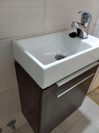 LAVABO blanco 45x25,5 cm. Ideal espacios pequeños