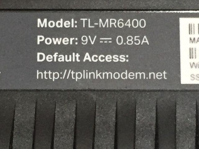 Router 4G tp-link TL-MR6400 LTE 300 Mbps WI-FI