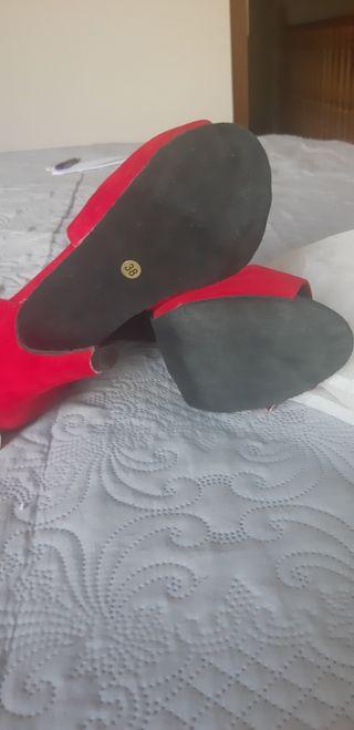 Zapato de baile rojo n.38