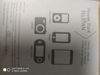Bateria portatil USB 2200mA/h