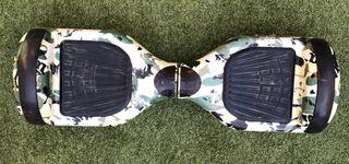Patinete eléctrico Hoverboard camuflaje con silla