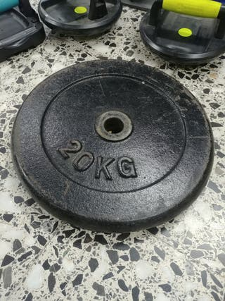 Disco de pesa 20 Kg - Mancuerna
