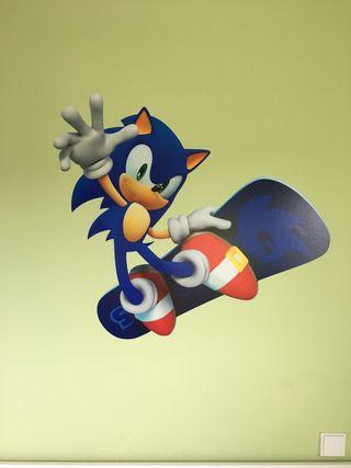 Vinilo pared lisa Sonic