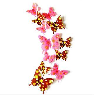 Set 12 Mariposas decoración