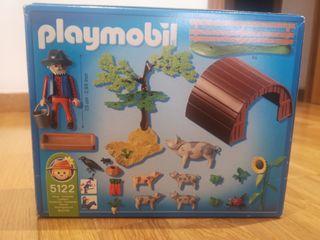 Granja, vallado y criador de cerditos playmobil