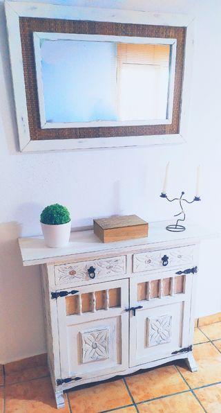 conjunto mueble+espejo