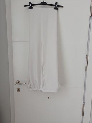 pantalón blanco culote/capri