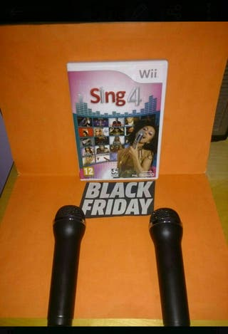 Juego Sing 4 Wii + 2 Micrófonos Wii