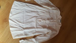 Blusa blanca de manga larga de massimo dutti