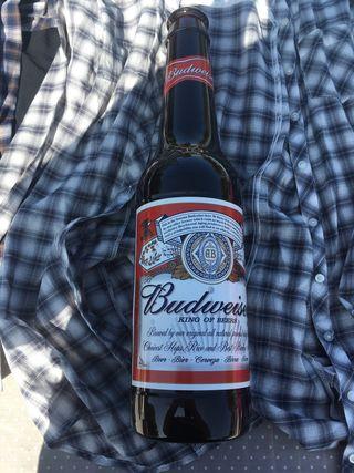 Botella budweiser