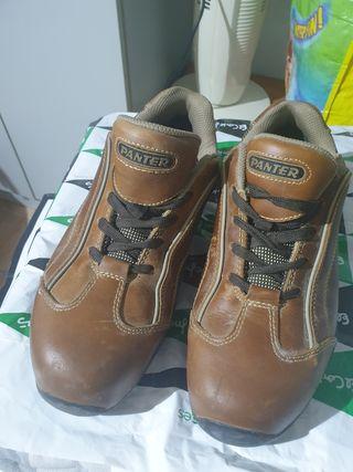 zapatos seguridad piel mujer