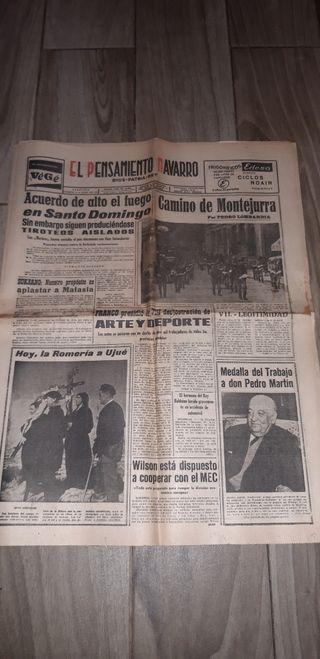 periódico el pensamiento Navarro 1965