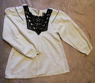 Blusa blanca 140, 9-10 años