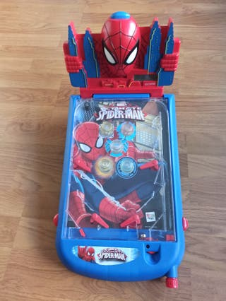 pinball spiderman luces y sonido
