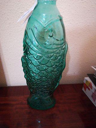 botellas cristal forma de pez