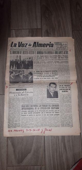 periódico la voz de Almería año 1966