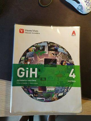 Llibre Geografia i història 4rt ESO