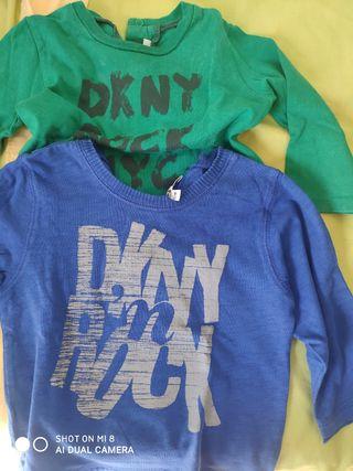 camisetas bebé, niño DKNY