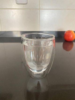 Vaso de Cristal de doble pared.