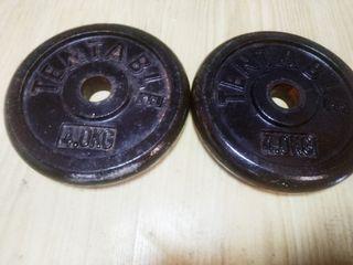 Pareja Pesas 4 Kgs (8kgs)/ 28mms/ deporte gimnasio