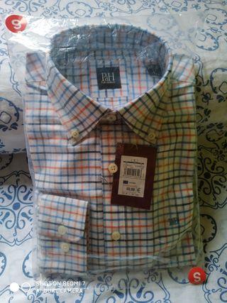 Camisa manga larga Pedro del Hierro, S, nueva