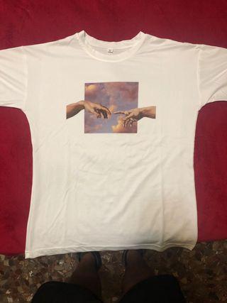 Camiseta manos Michelangelo
