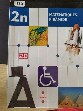 Llibre matemàtiques piràmide 2n ESO