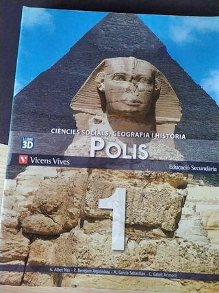 Llibre Ciències socials,geografia i història 1rESO