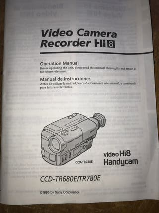 Camara Sony Handycam video Hi8