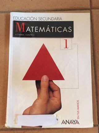 Libro matemáticas primero ESO