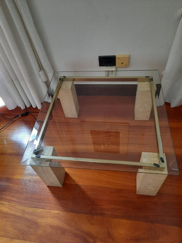 Mesa auxiliar cristal