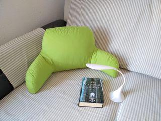 Cojin de lectura NUEVO verde. Almohada lumbar