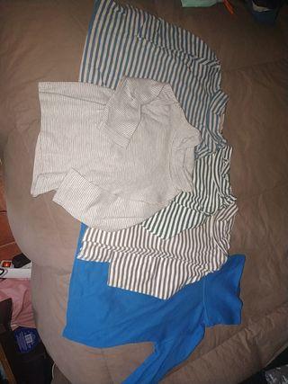 lote 5 camiseta manga larga cuello alto bebe