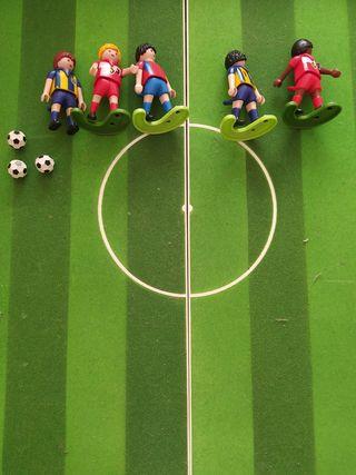futbolin maletin playmobil