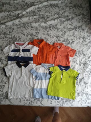 lote camisetas polos bebé
