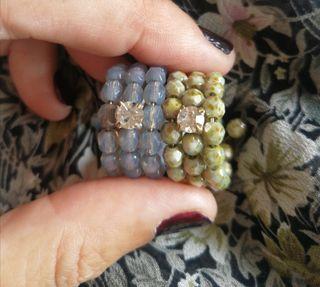 anillos circonita swarosky