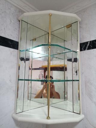 Estantería de baño de espejo