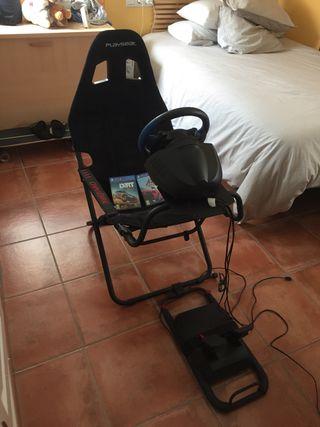 Volante PS4 Thrustmaster T150 + Playseat Challenge