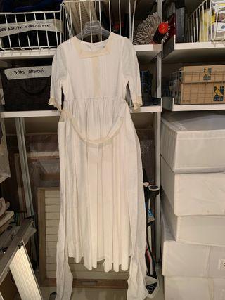 Vestido de comunión tipo Plumeti