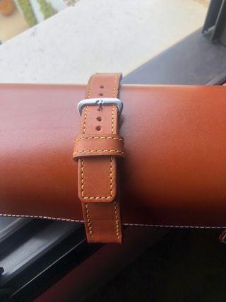 Correa de reloj de cuero artesanal