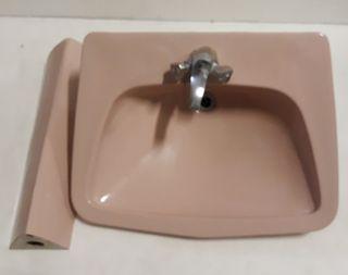 Lavamanos Roca color rosa