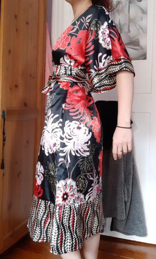 Vestido kimono seda japonés