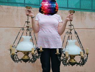 2 Lámparas antiguas