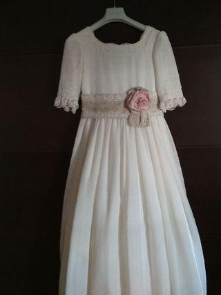 Vestido comunión plumeti tal 115cm/ 10. 250€